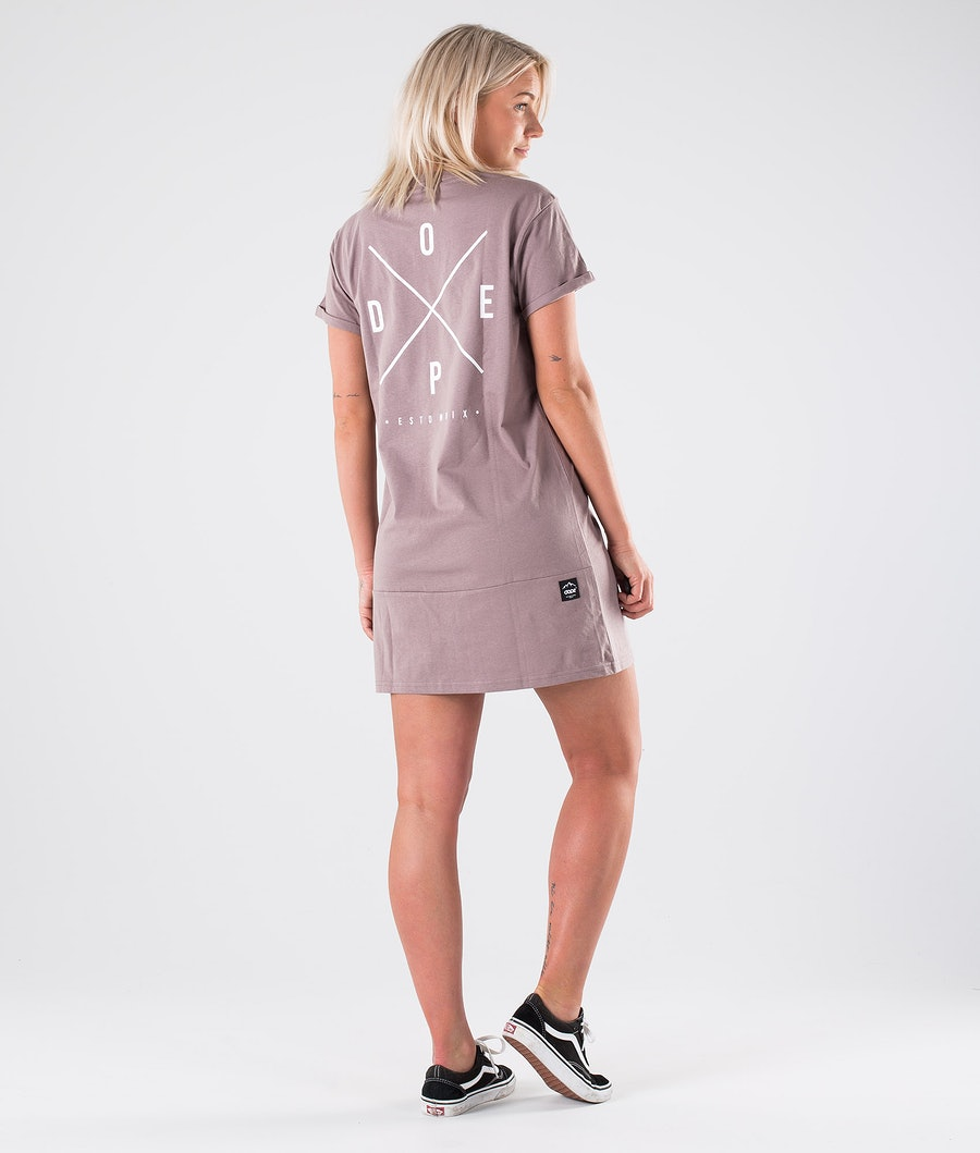 Dope 2X-up Dress Kjole Dame Faded Purple