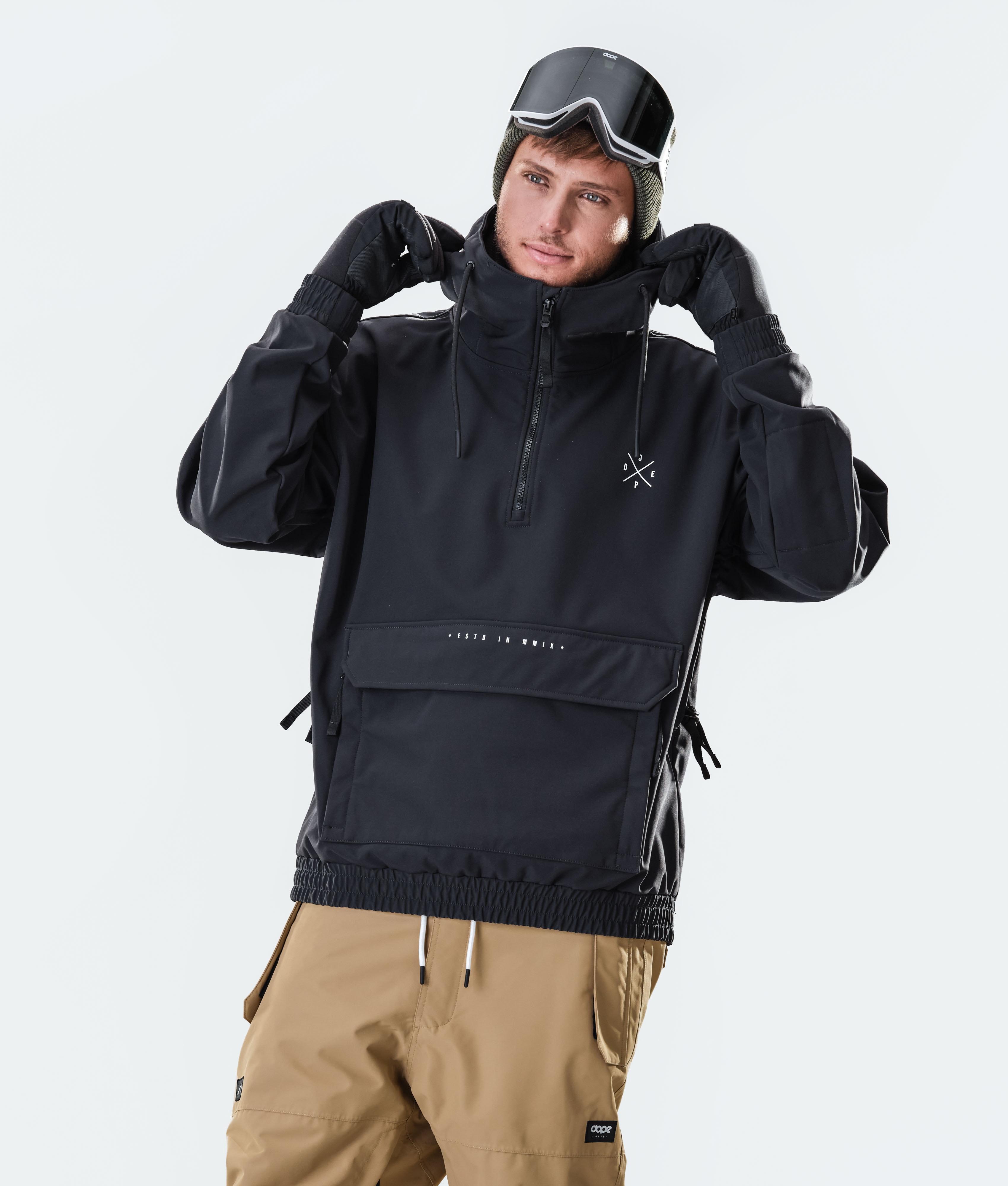 Mens Technical Ski Hoodies Water Repellent