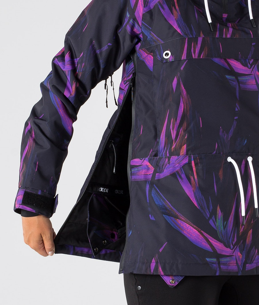 Dope Annok W Women's Snowboard Jacket Purple Foliage