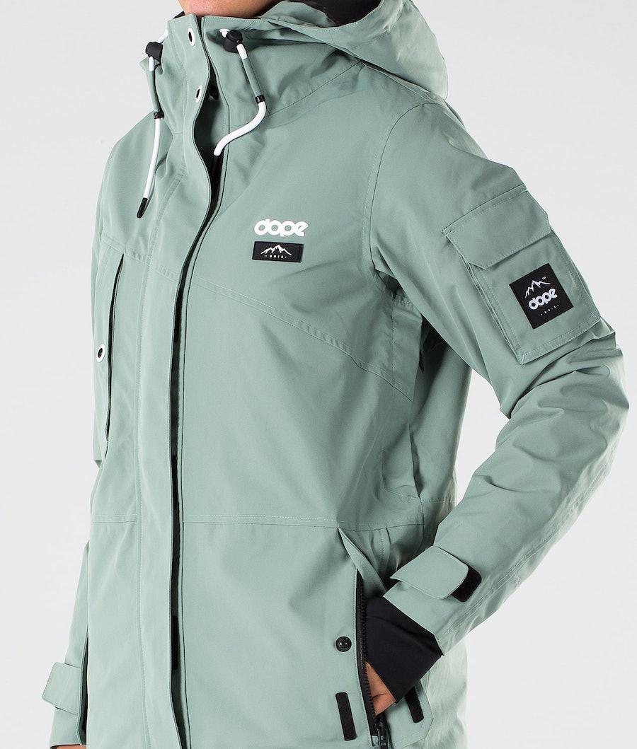 Dope Adept W Snowboardjakke Dame Faded Green