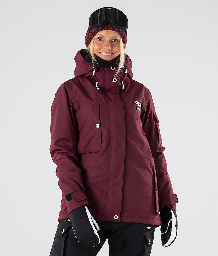 Dope Adept W Snowboardjakke Burgundy