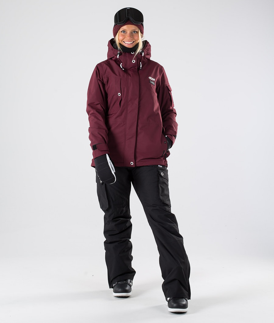 Dope Adept W Veste de Snowboard Femme Burgundy