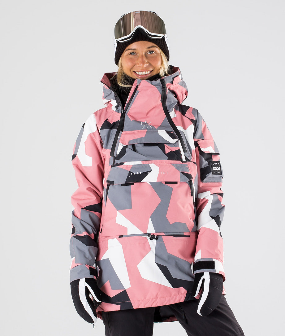 Dope Akin W Snowboard Jacket Pink Camo