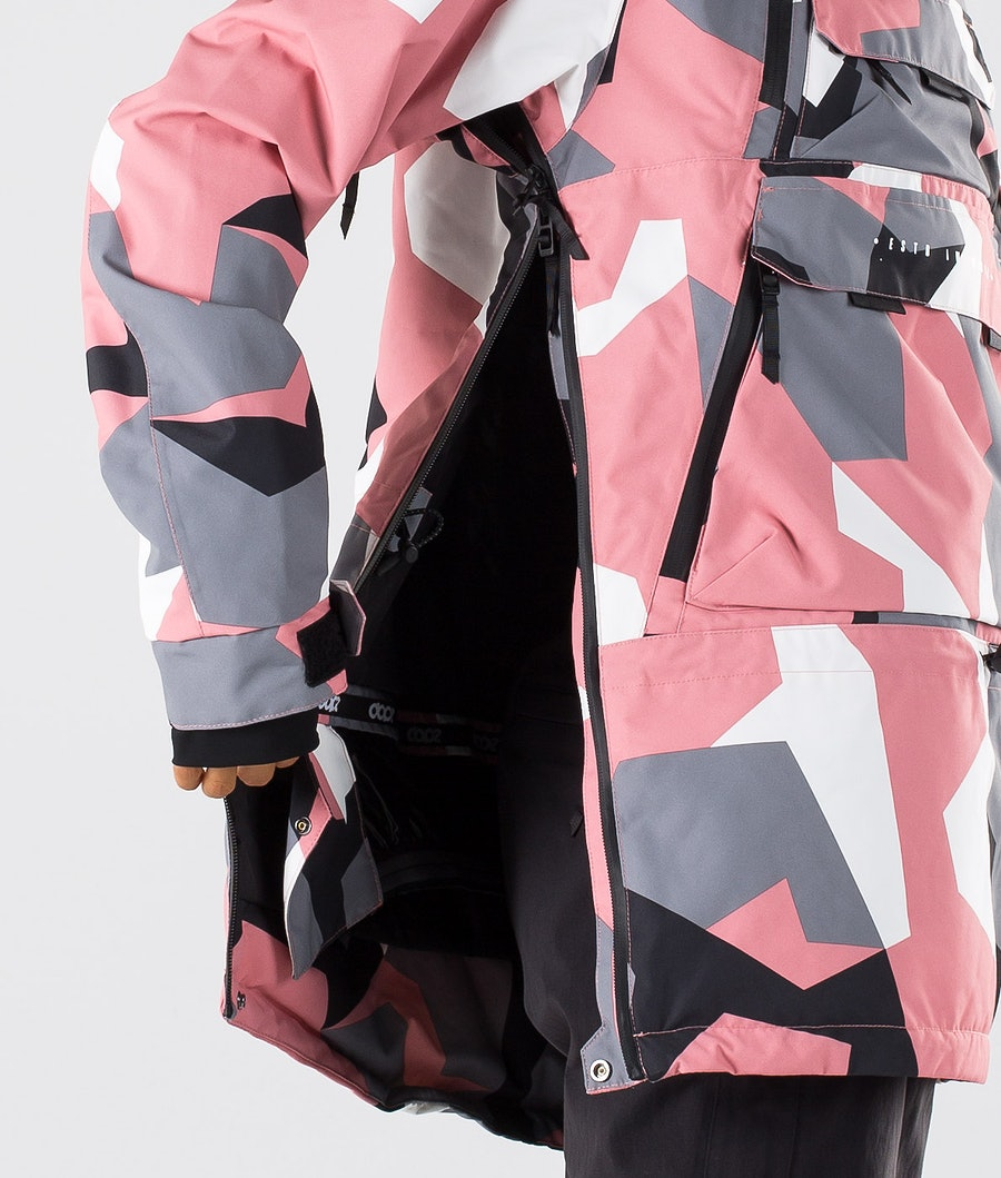 Dope Akin W Veste de Snowboard Femme Pink Camo