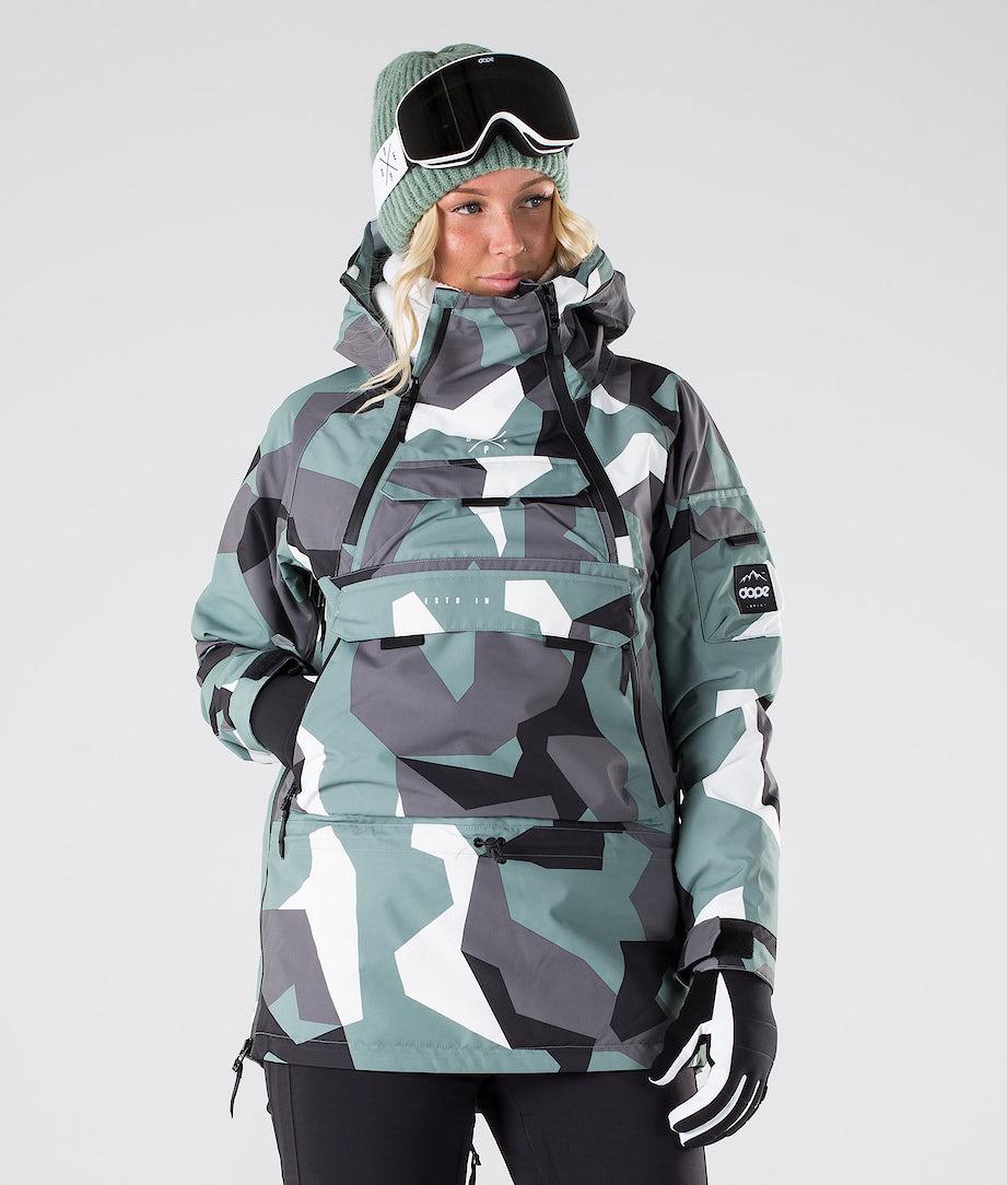 Dope Akin W Snowboard Jacket Faded Green Camo