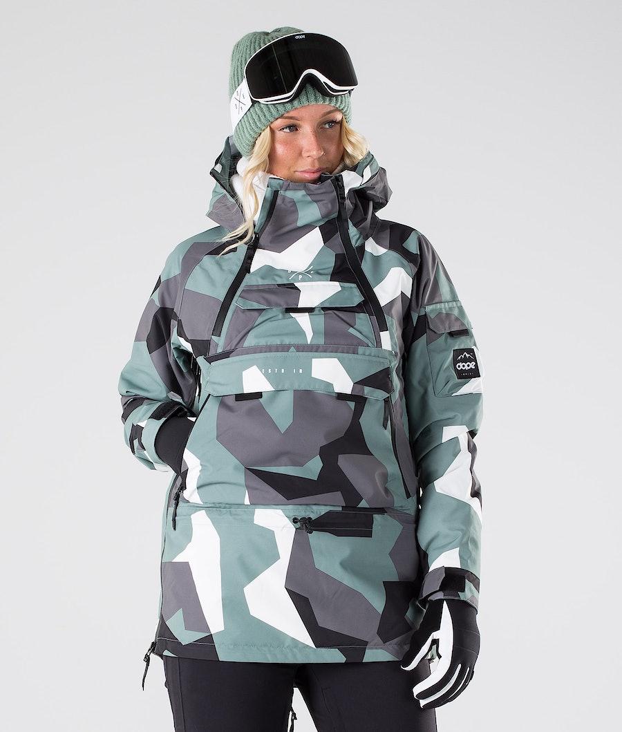 Dope Akin W Women's Snowboard Jacket Faded Green Camo