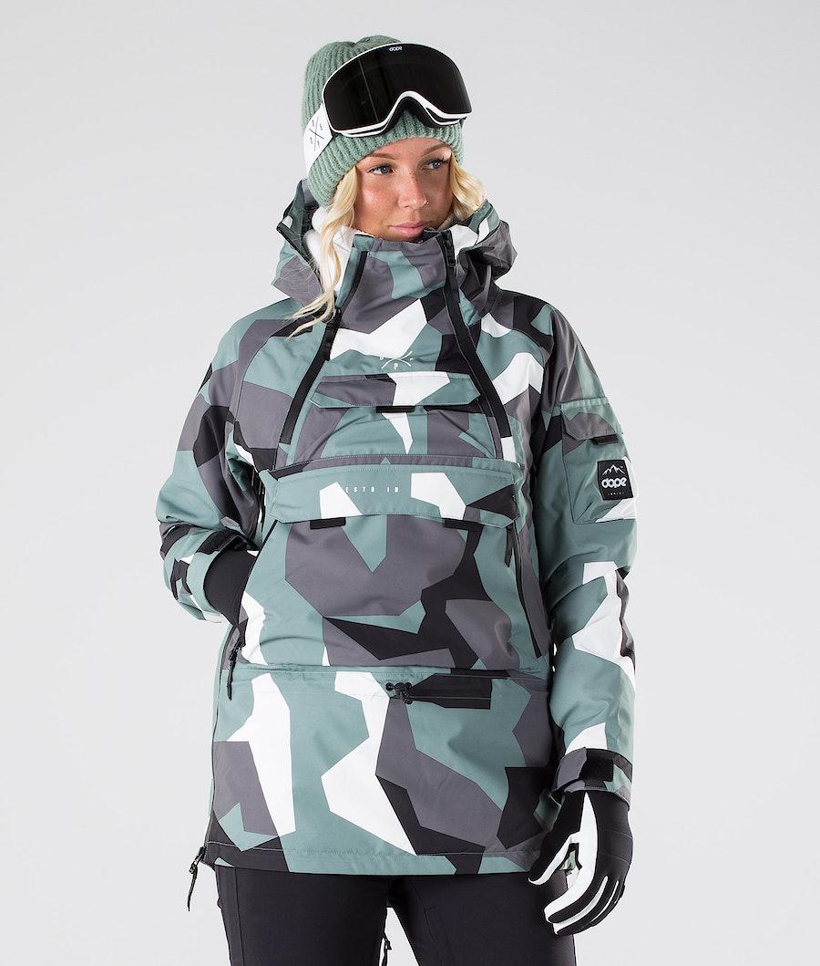 Dope Akin W Snowboardjakke Faded Green Camo