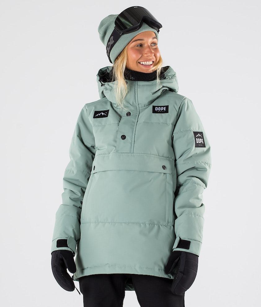 Dope Puffer W Veste de Snowboard Faded Green