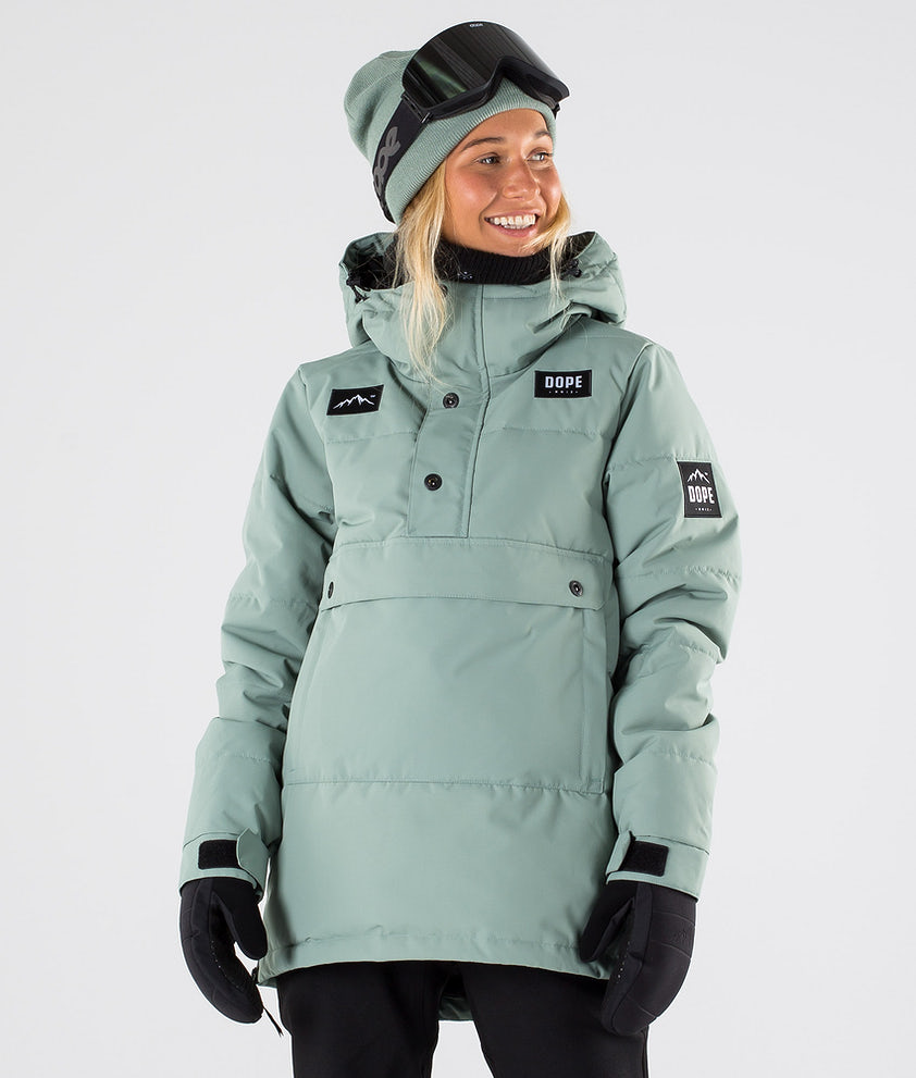 Dope Puffer W Snowboard Jacket Faded Green