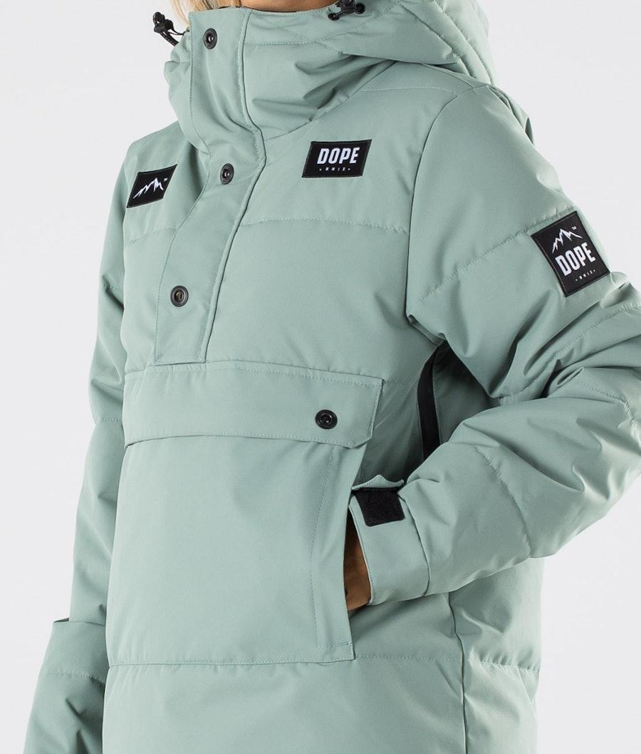 Dope Puffer W Women's Snowboard Jacket Faded Green