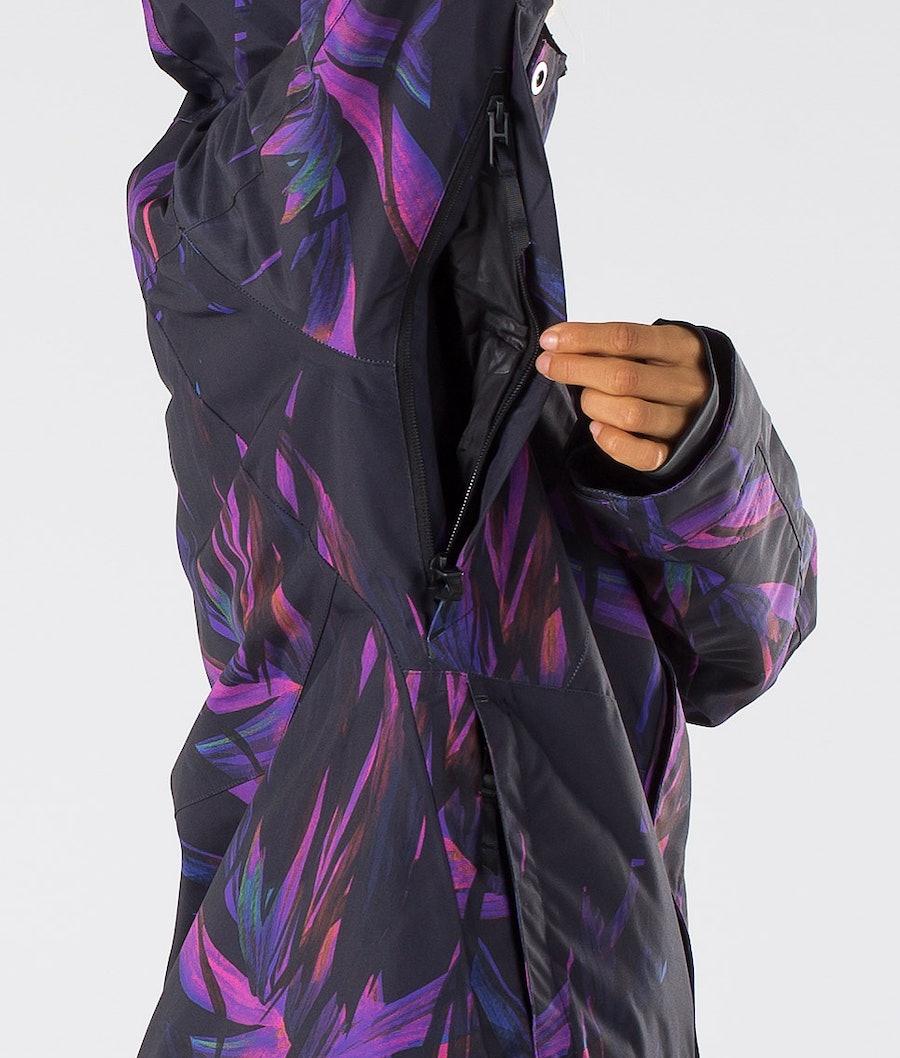 Dope Divine Women's Snowboard Jacket Purple Foliage