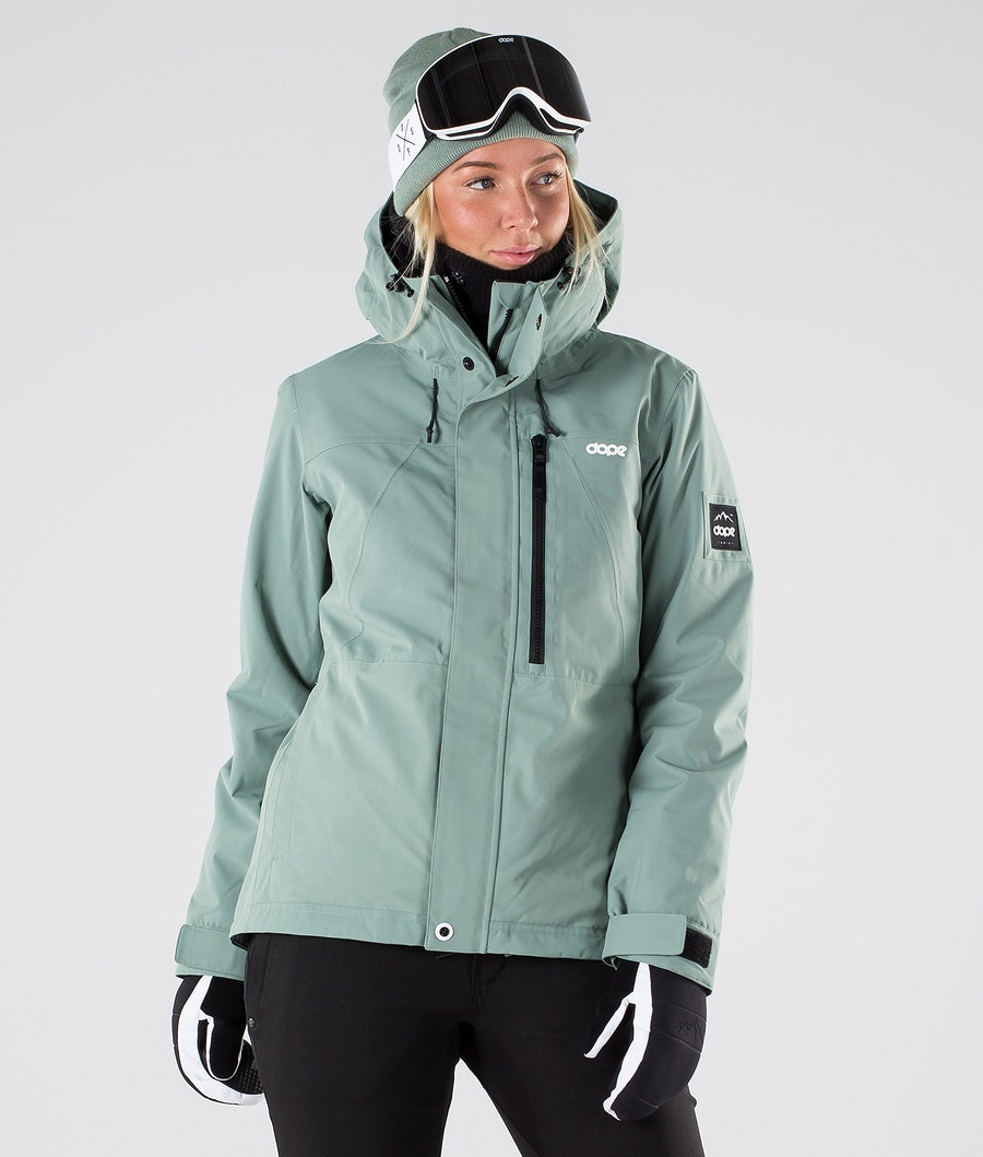 Dope Divine Women's Snowboard Jacket Faded Green