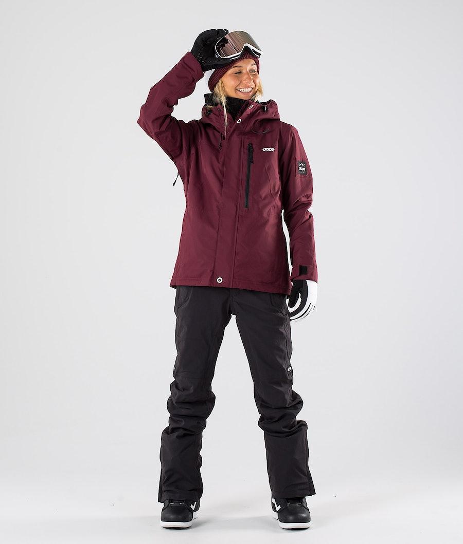 Dope Divine Veste de Snowboard Femme Burgundy