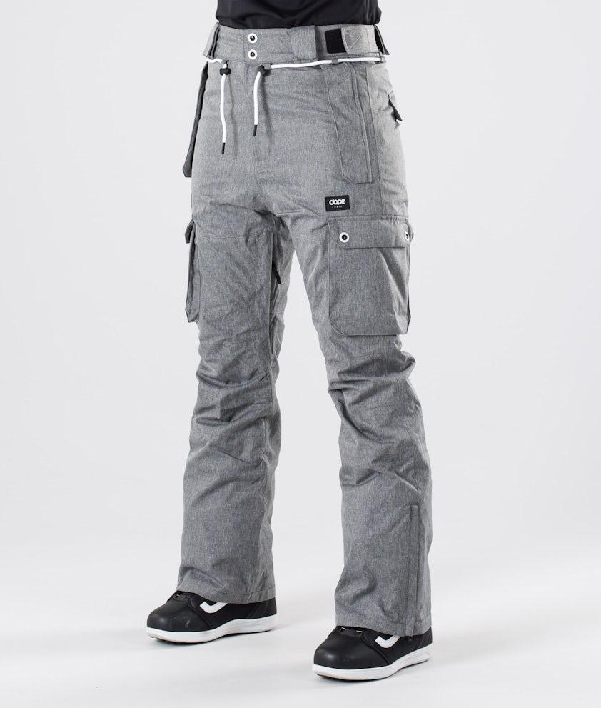 Dope Iconic W Pantaloni da snowboard Grey Melange