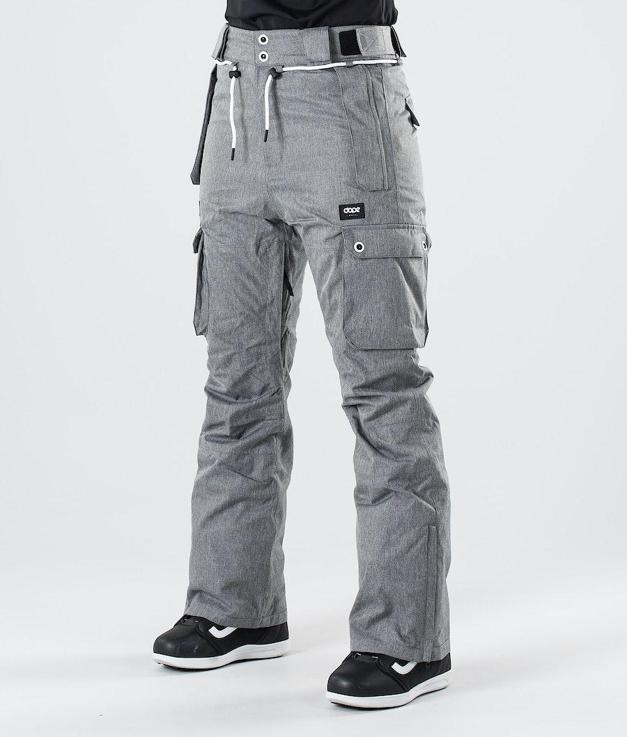 Dope Iconic W Snowboardbukse Grey Melange