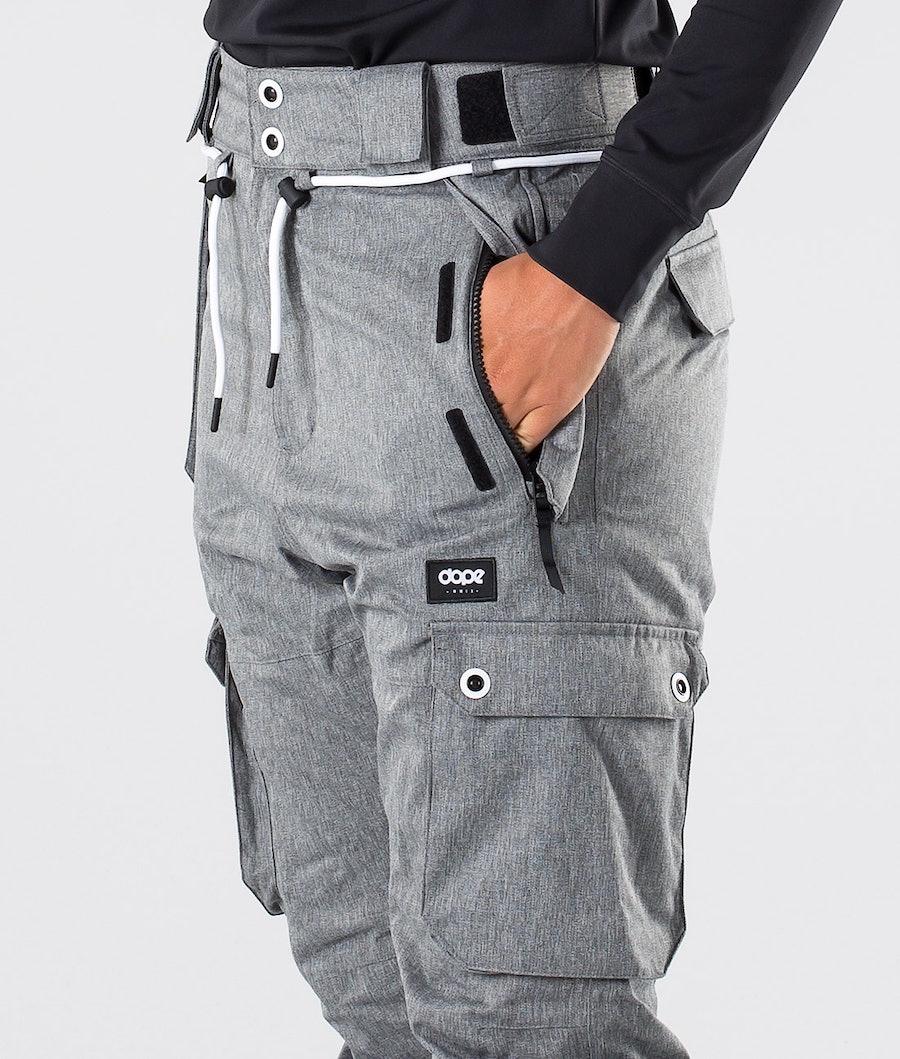 Dope Iconic W Pantalon de Snowboard Femme Grey Melange