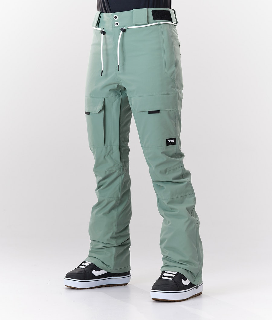 Dope Grace Snowboard Pants Faded Green