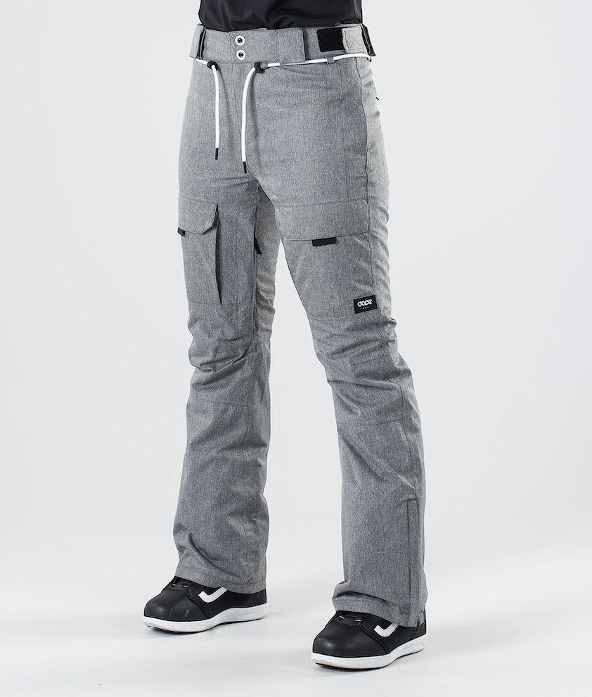 Dope Grace Pantalon de Snowboard Grey Melange