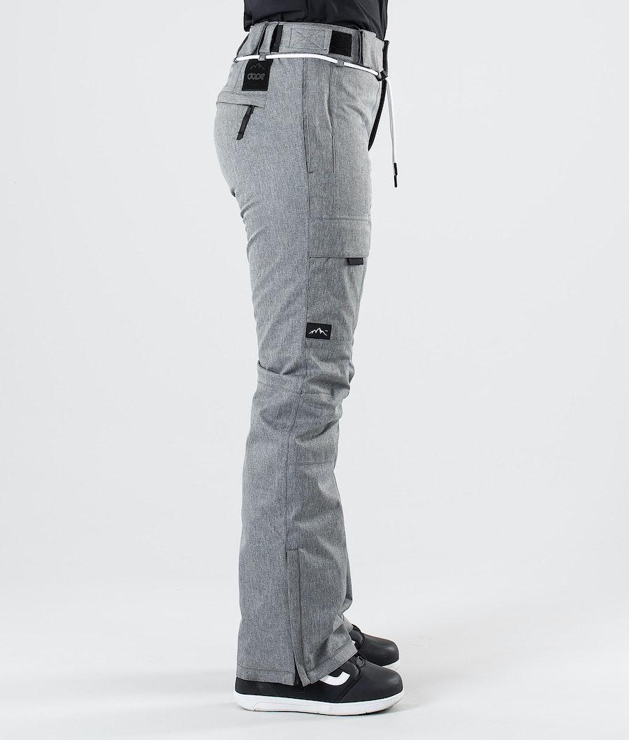 Dope Grace Pantalon de Snowboard Femme Grey Melange