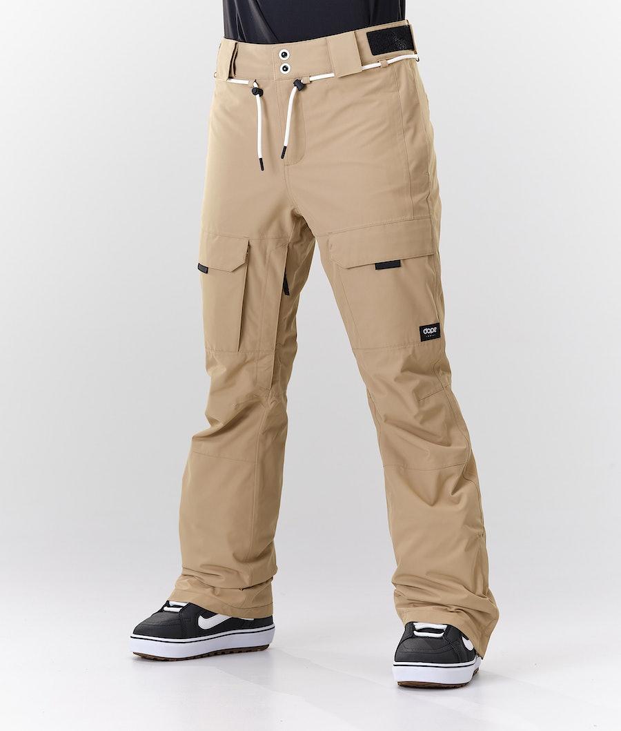 Dope Grace Pantaloni da Snowboard Khaki