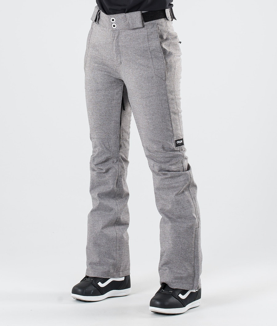Dope Con Snow Pants Grey Melange