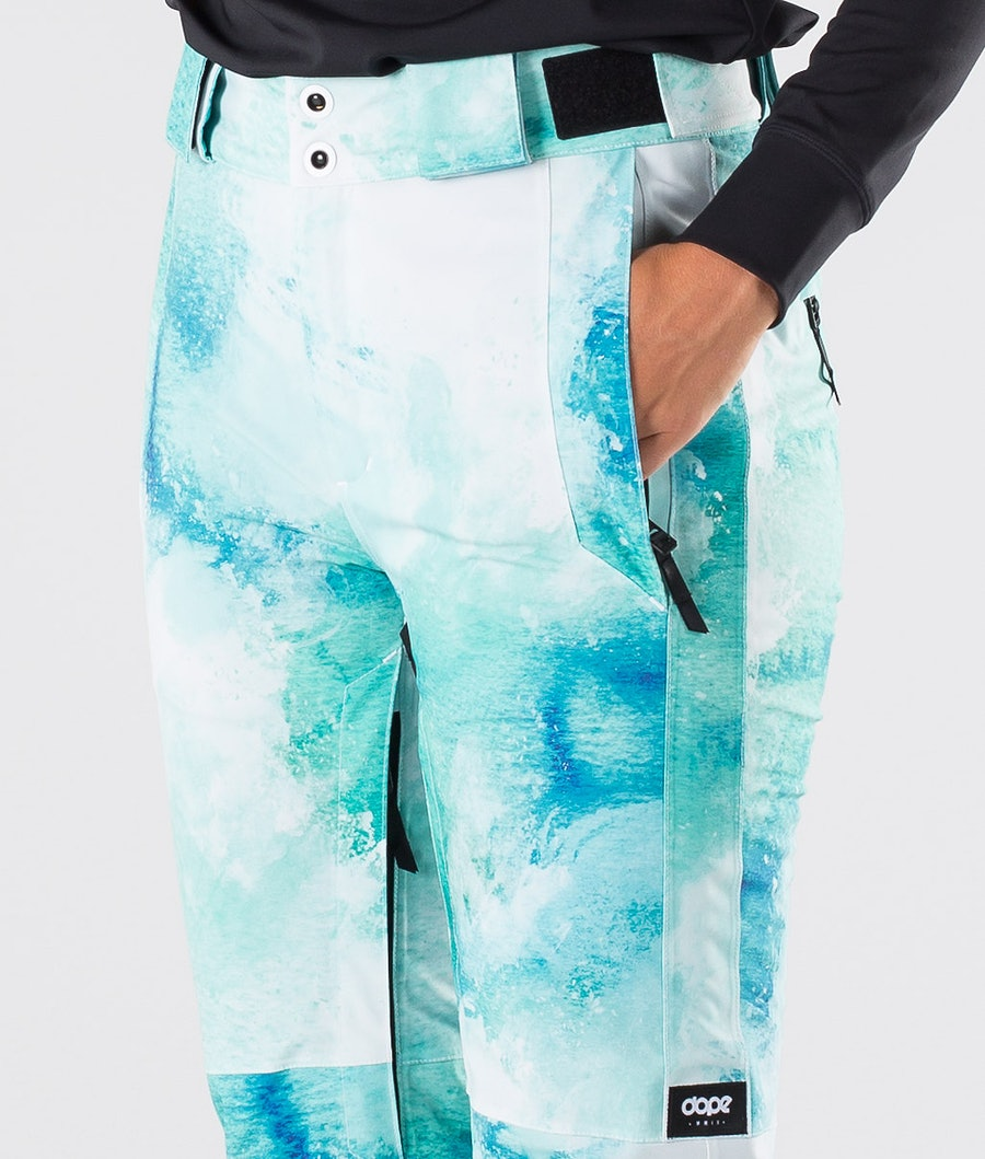 Dope Con Women's Snowboard Pants Water White