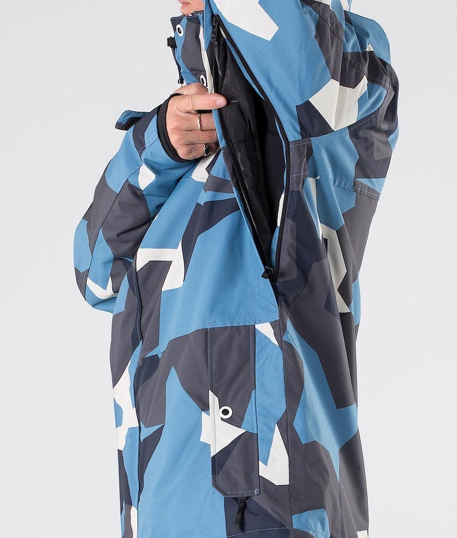 Dope Adept Snowboardjakke Blue Camo