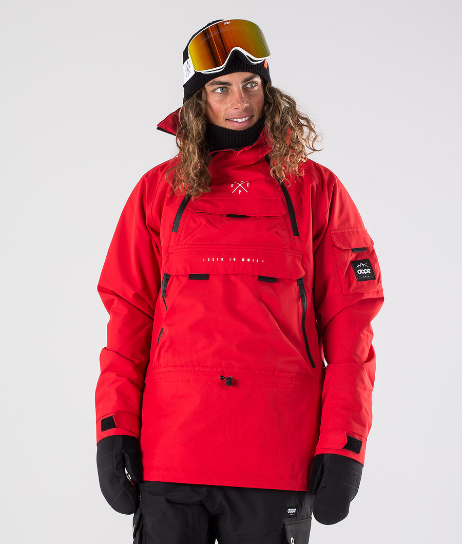 Dope Akin Snowboard Jacket Red