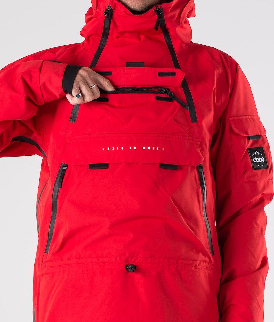 Dope Akin Giacca da snowboard Red