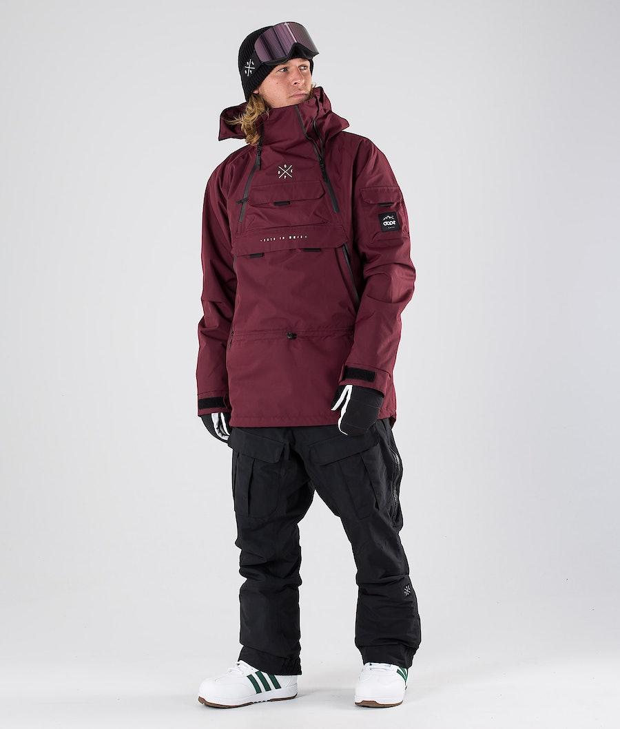 Dope Akin Giacca da Snowboard Burgundy