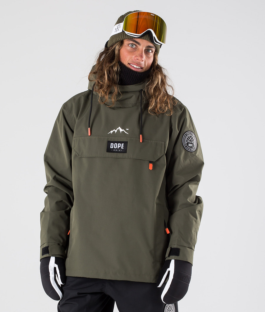 Dope Blizzard Snowboard Jacket Green