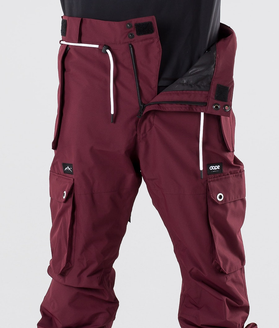 Dope Iconic Pantaloni da snowboard Burgundy