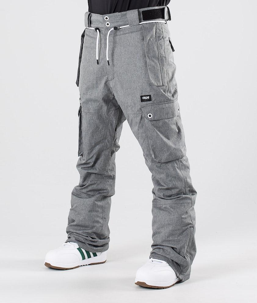 Dope Iconic Pantalones de nieve Grey Melange