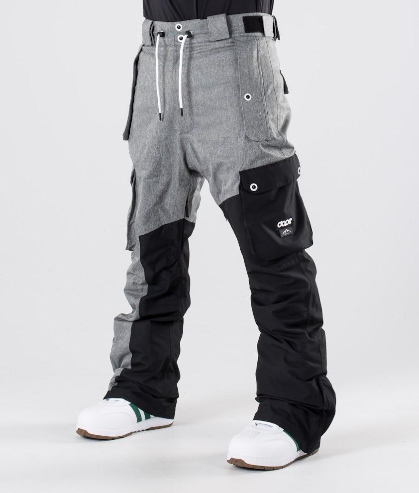 Dope Adept Snowboardbukse Grey Melange/Black