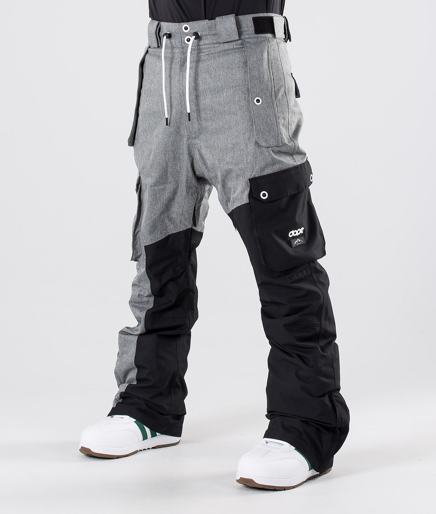Dope Adept Snow Pants Grey Melange/Black