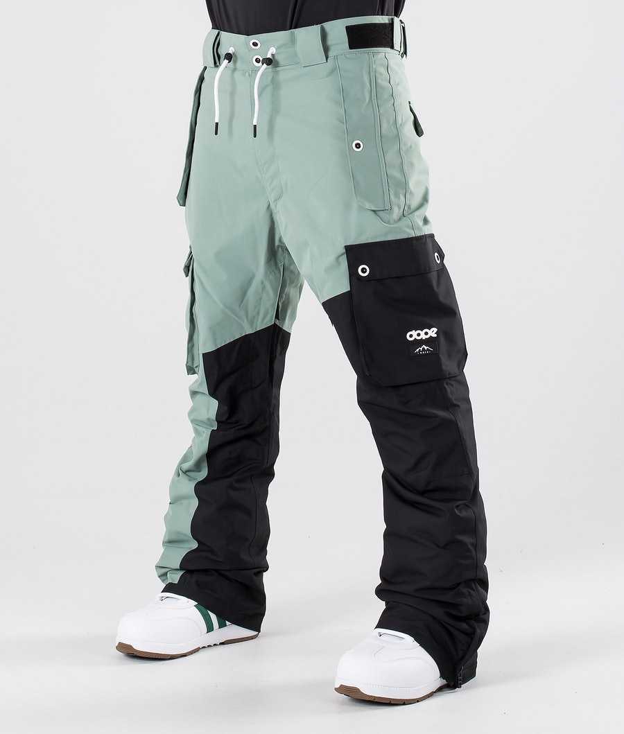 Dope Adept Snow Pants Faded Green/Black