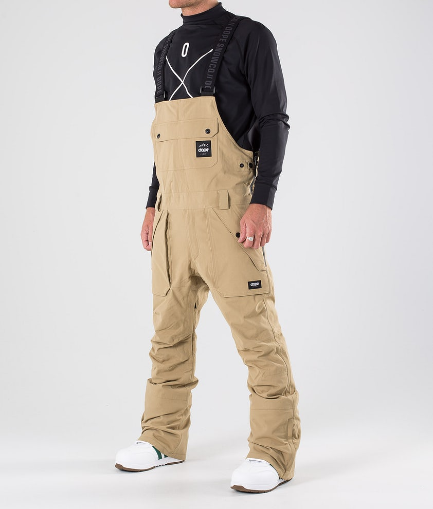 Dope Notorious BIB Snow Pants Khaki
