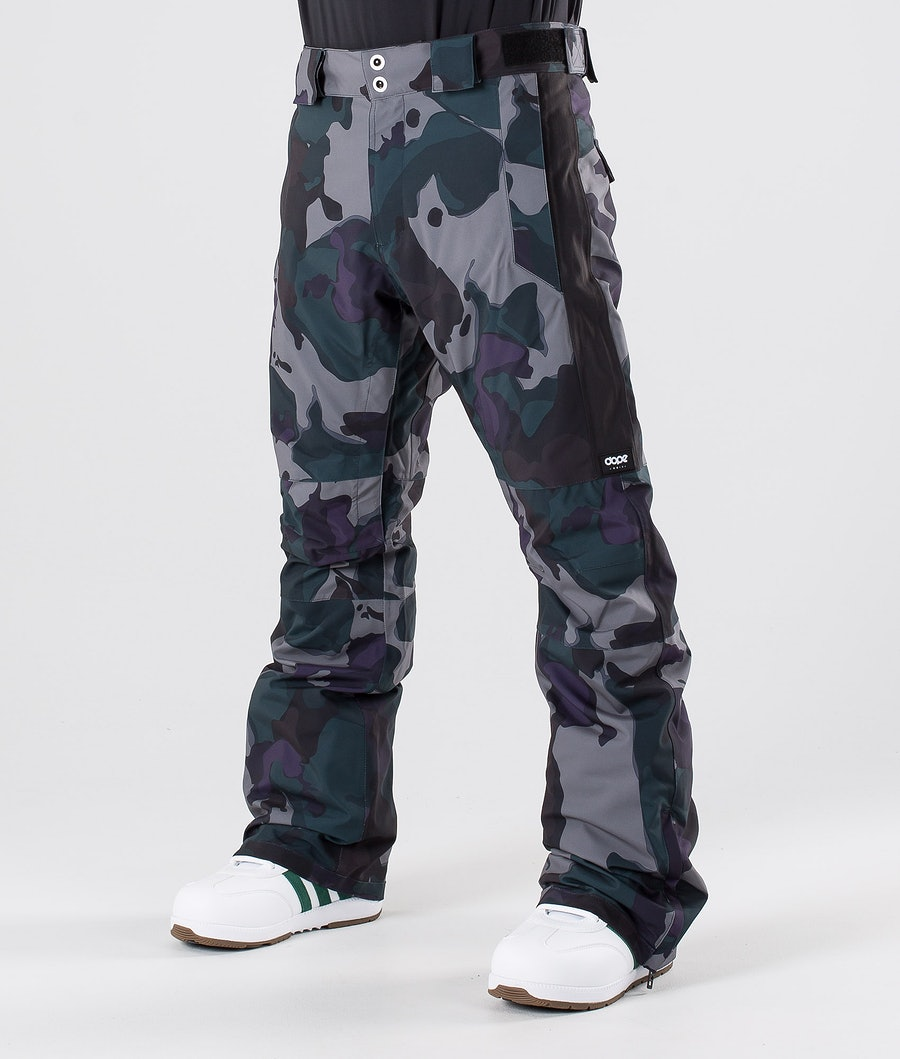 Dope Hoax II Snow Pants Grape Green Camo