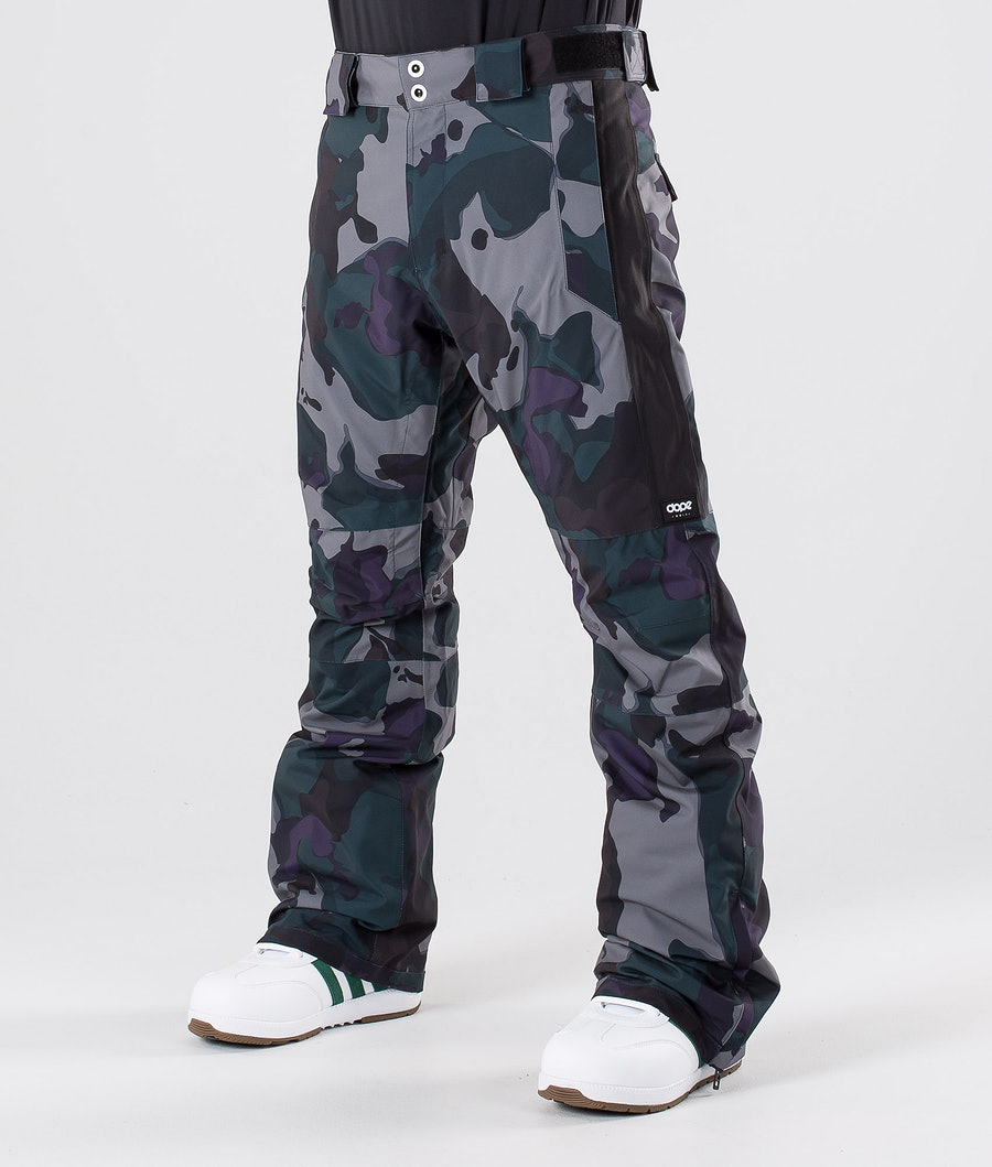 Dope Hoax II Snowboardhose Grape Green Camo