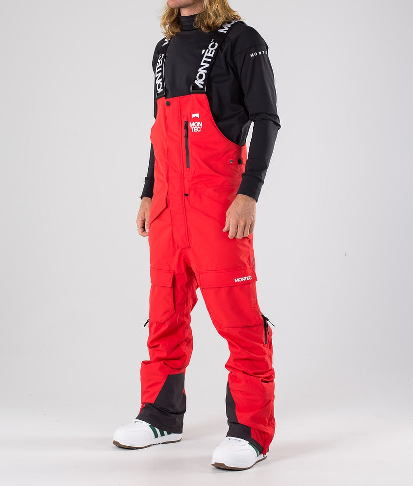 Montec Fawk Snowboard Pants Red