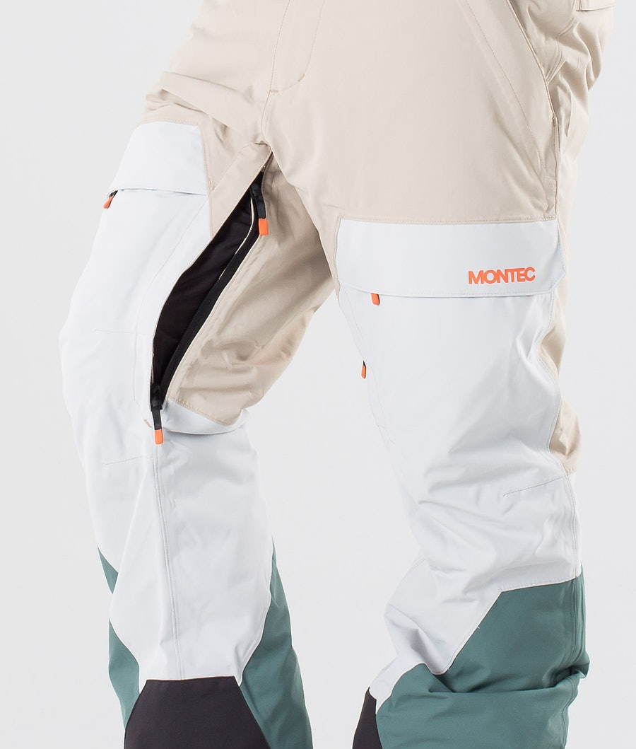 Montec Dune Pantaloni da snowboard Desert Light Grey Atlantic