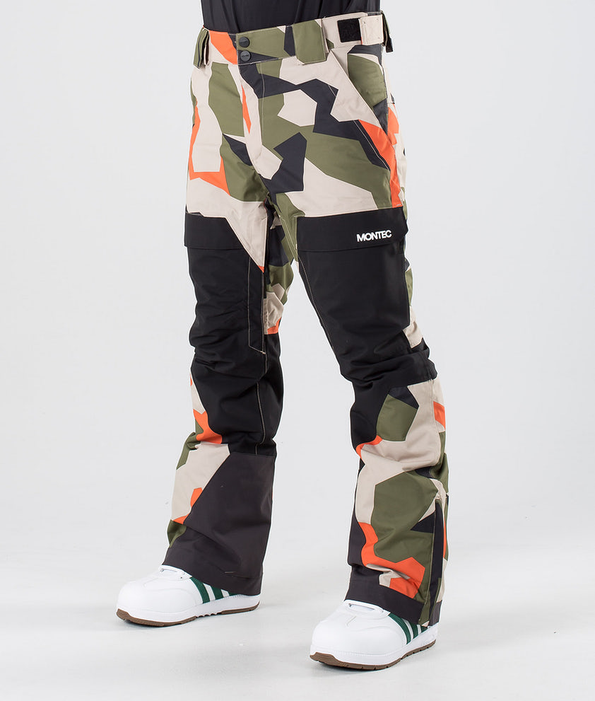 Montec Dune Snowboardbukse Orange Green Camo