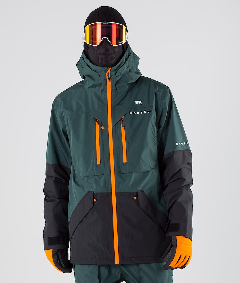 Montec Fenix Snowboard Jacket Dark Atlantic Black