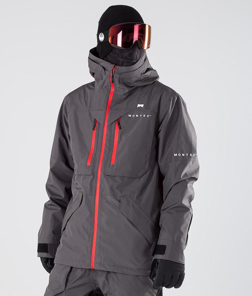 Montec Fenix Snowboardjakke Pearl Fire/Red