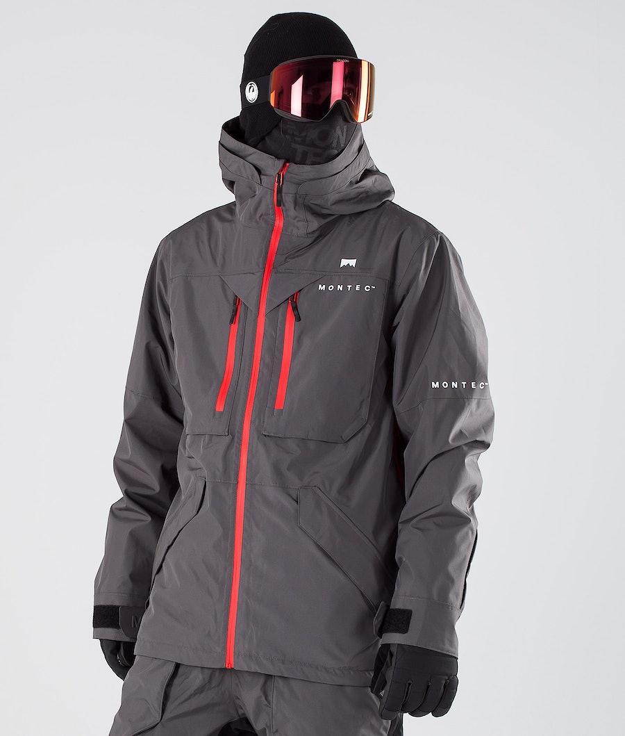 Montec Fenix Snowboard Jacket Pearl Fire/Red