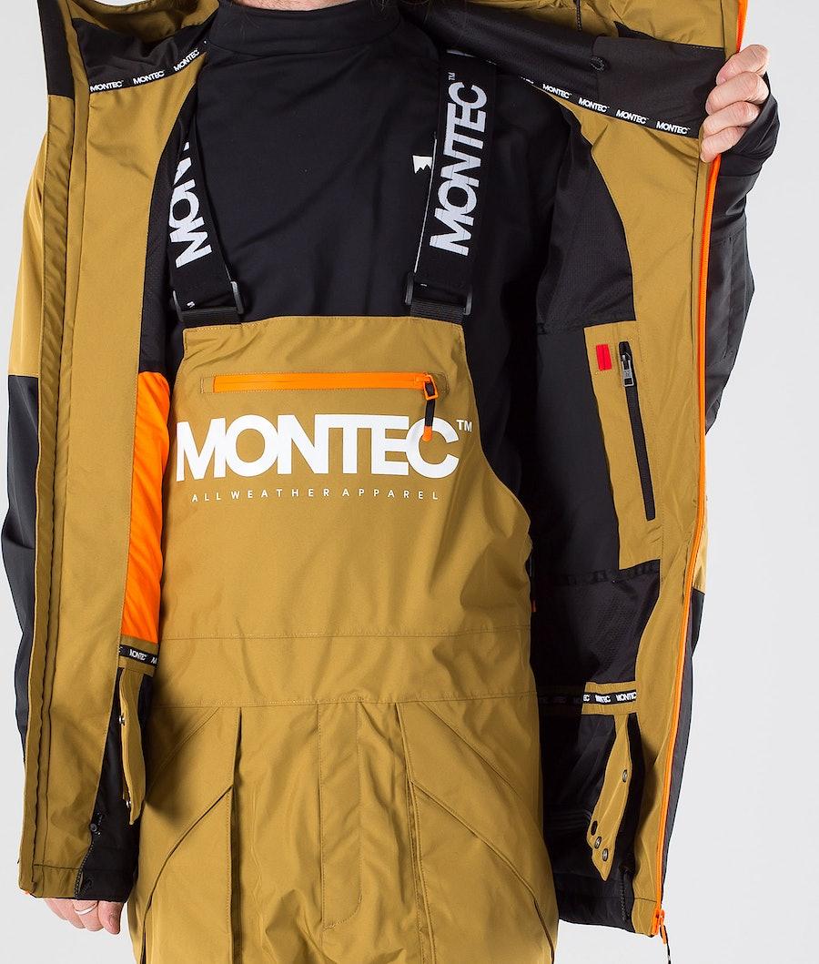 Montec Fenix Snowboard Jacket Gold/Black