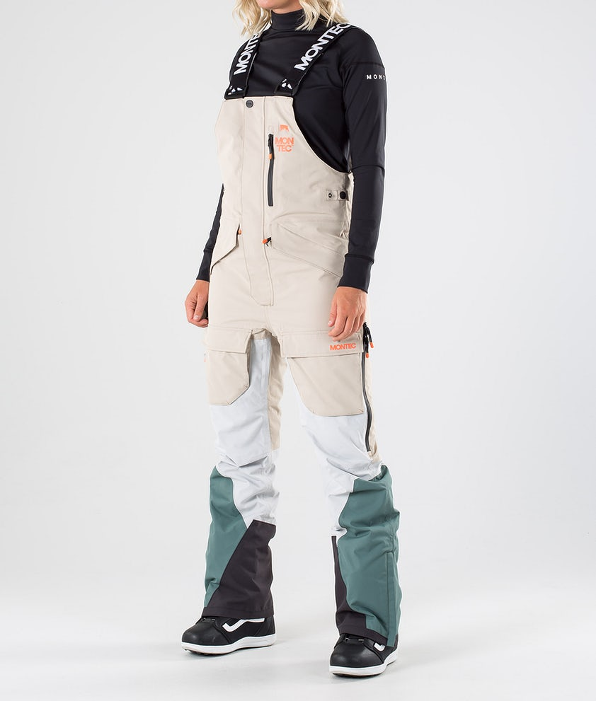Montec Fawk W Pantaloni da snowboard Desert Light Grey Atlantic