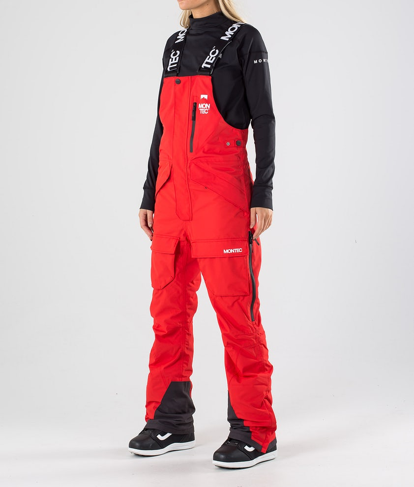Montec Fawk W Pantaloni da snowboard Red