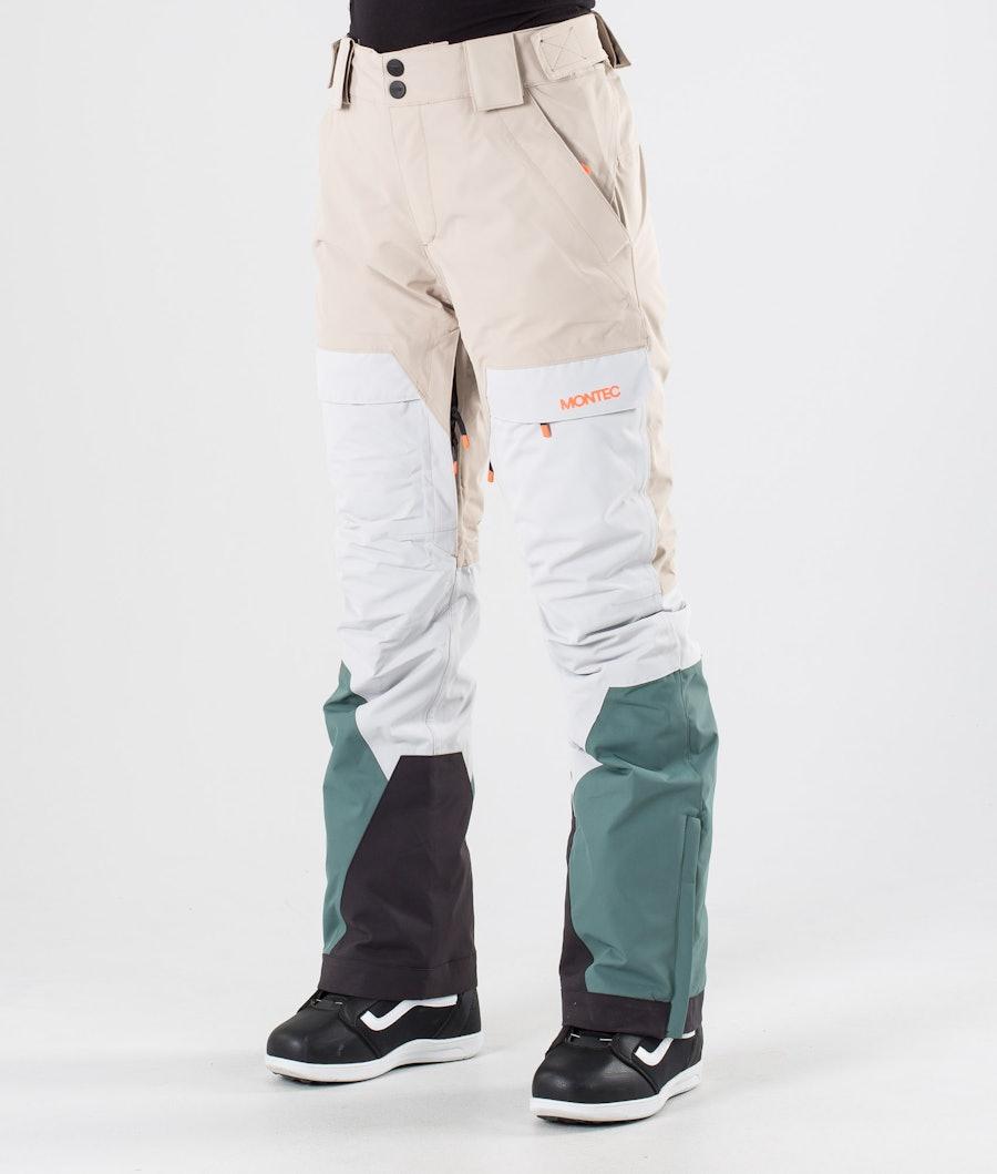 Montec Dune W Snowboard Pants Desert Light Grey Atlantic
