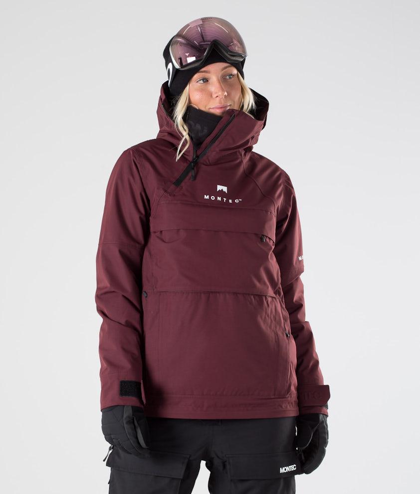 Montec Dune W Snowboard Jacket Burgundy